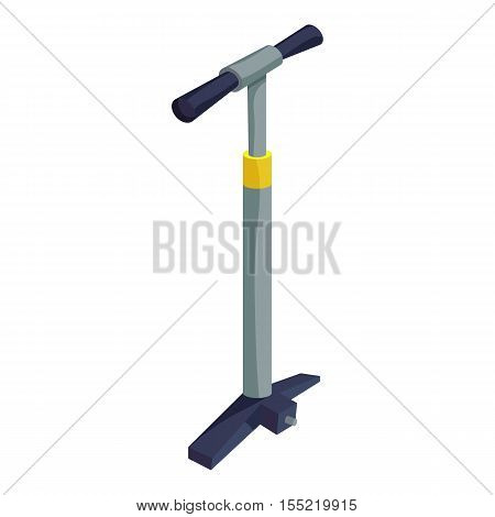 Pump for bicycle icon. Isometric illustration of pump for bicycle vector icon for web design