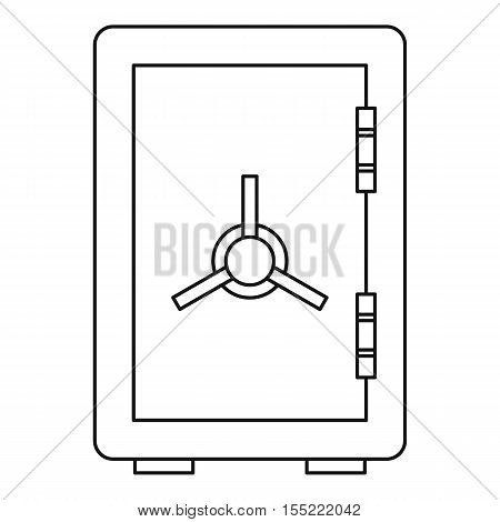 Safe icon. Outline illustration of safe vector icon for web