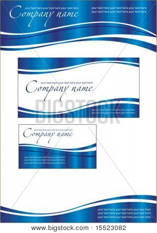 Vector marine business stationery set. To see similar sets please visit my gallery.