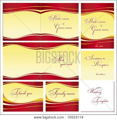 Stylish Wedding templates set 2. To see similar, please VISIT MY GALLERY.