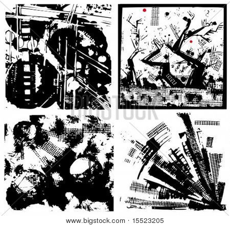 Vector set of graphic grunge abstract backgrounds. To see similar, please visit my gallery.