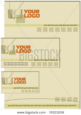 Brown stylish business stationery set. 12. To see similar, please visit my gallery.