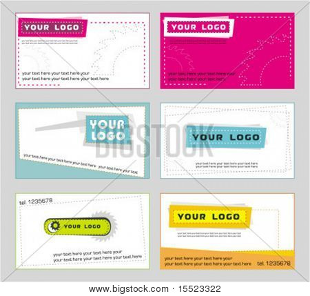 Vector set of business card designs 1.  To see similar, please VISIT MY GALLERY.