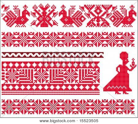 Ukranian Slavonic patterns. To see similar, please VISIT MY GALLERY.