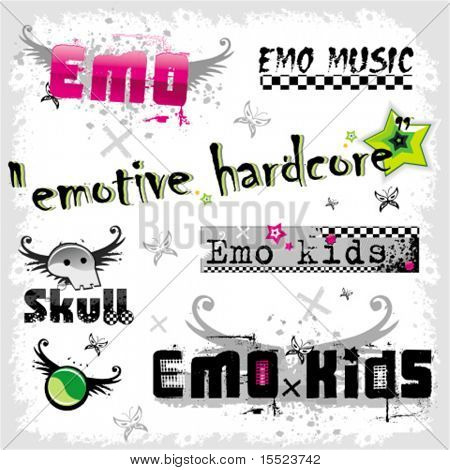 Emo logos 2. To see similar, please VISIT MY GALLERY.