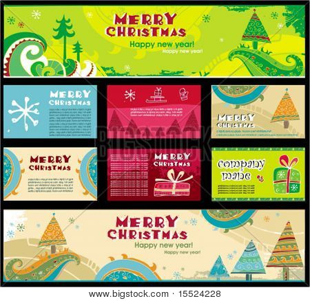 Christmas banners, vector. To see similar, please VISIT MY GALLERY.