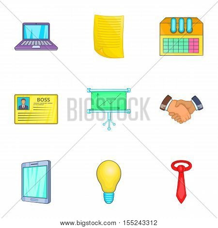 Corporation icons set. Cartoon illustration of 9 corporation vector icons for web