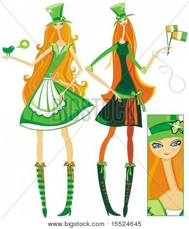 Irish Girls for Saint Patrick's Day. To see similar, please VISIT MY GALLERY.