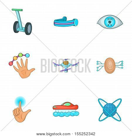 Innovative device icons set. Cartoon illustration of 9 innovative device vector icons for web