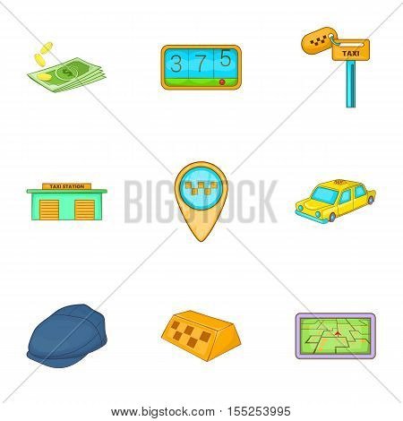 Transportation of people icons set. Cartoon illustration of 9 transportation of people vector icons for web