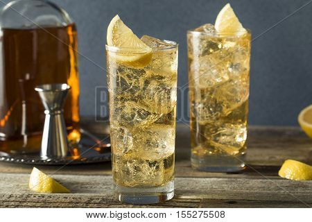 Whiskey Highball With Ginger Ale