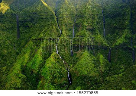 Mount Waialeale Known As The Wettest Spot On Earth, Kauai