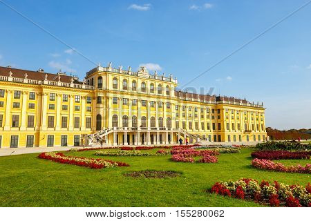 Schonbrunn Palace, Baroque Palace Is Former Imperial Summer Residence Located In Vienna, Austria