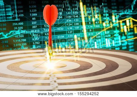 Financial stock market data. Candle stick graph chart of stock market ,stock market data graph chart on LED concept