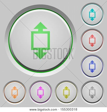Height tool color icons on sunk push buttons