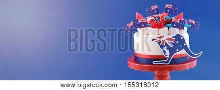 Australian Celebration Cake Social Media Banner