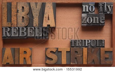 Libya airstrike words