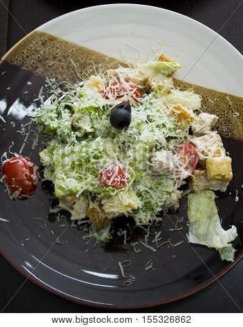 The Caesar Salad Served In Russian Restaurants.