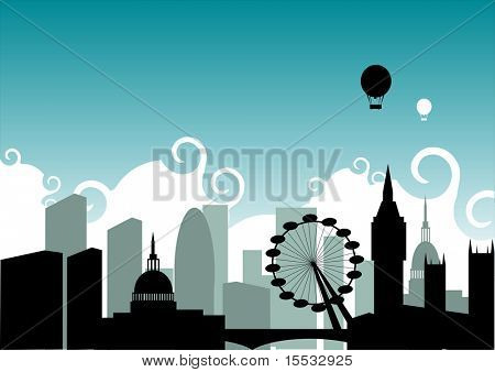 Eine Illustration auf der Grundlage der City of London.