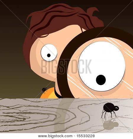 Sam watching a spider watching you...