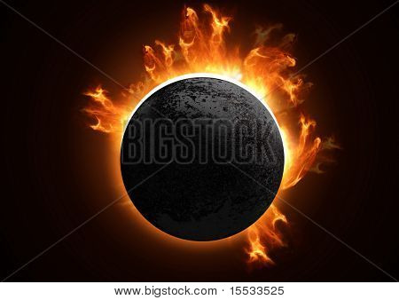 A 3D Total eclipse in detail.