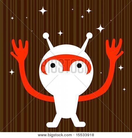 A strange space alien!