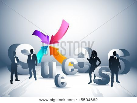 People and successful direction concept. Vector illustration. See my gallery for more.