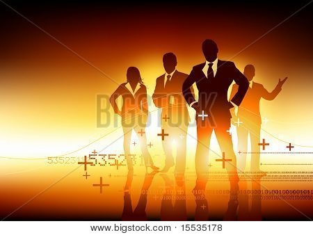 A team of experts. Vector illustration.