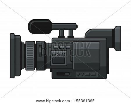 Professional Digital Video Camera Recorder Icon. Vector illustration