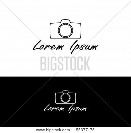 Photographer and photography industry business identity logo