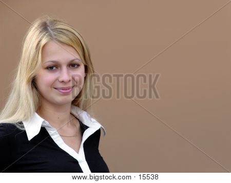 Blond Girl With Space For Copy