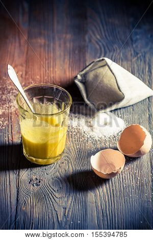 Simple Dessert Made of Egg Yolks And Sugar