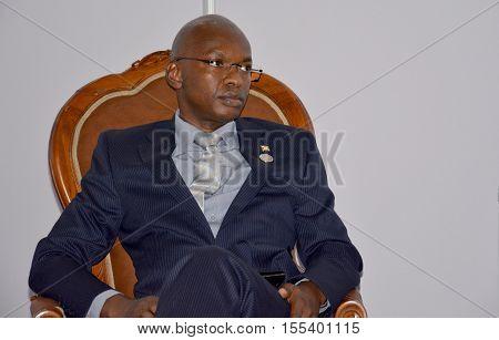 Porlamar Venezuela. September 15th 2016: Minister of Foreign Affairs of Burundi Alain Aimé Nyamitwe at the bilateral meeting during the Non-Aligned Movement Summit held on Margarita Island Venezuela
