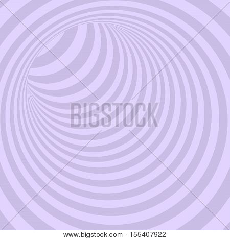 Violet Circle Striped Abstract Tunnel Background. Vector Illustration