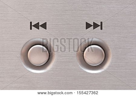 Next and previous button of a CD player