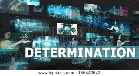 Determination Presentation Background with Technology Abstract Art 3d Illustration Render