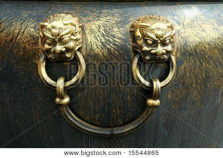 golden lion. China. Beijing