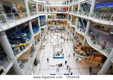 Passage In A Modern Multilevel Shopping Mall