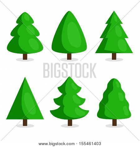 funny christmas tree and vector christmas tree on white background cartoon christmas tree icon and