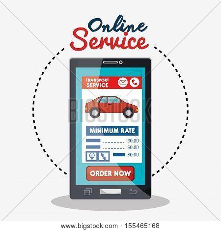 public car online service graphic vector illustration eps 10