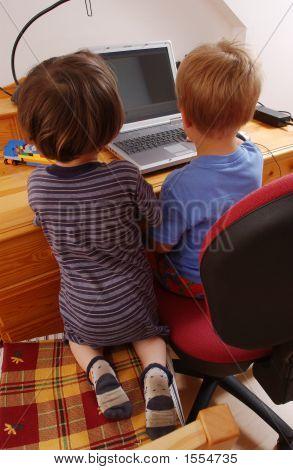 Children With Notebook