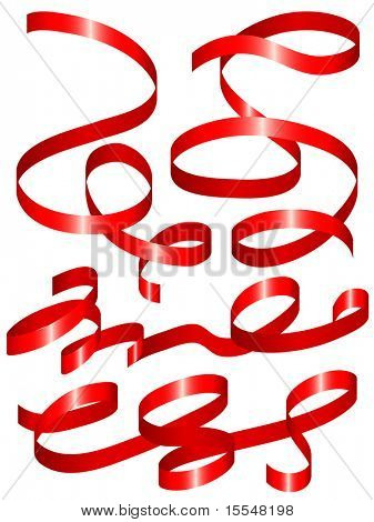 set of holiday ribbon. Vector illustration