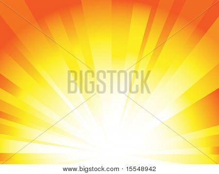 Plano de fundo do nascer do sol raio vetor
