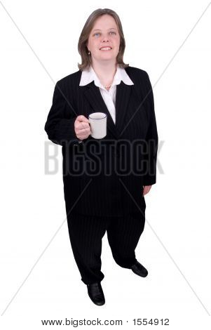 Businesswoman With Coffee Cup