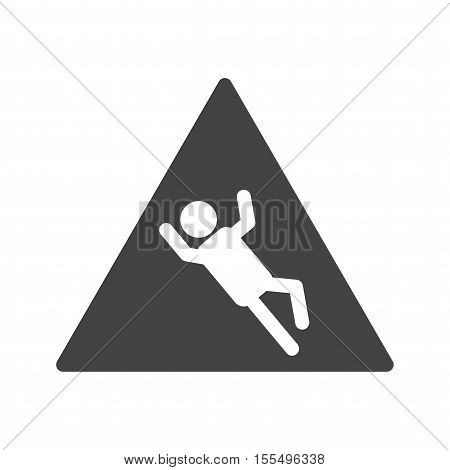 Dangerous, slip, risk icon vector image. Can also be used for warning caution. Suitable for use on web apps, mobile apps and print media.