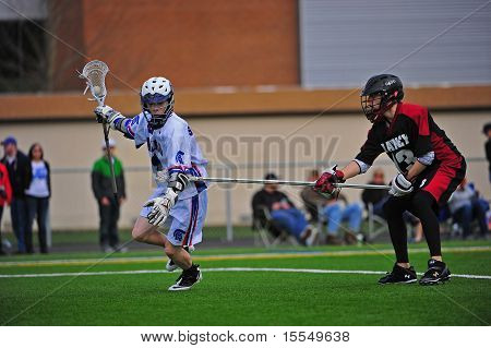 Boys Lacrosse long stick