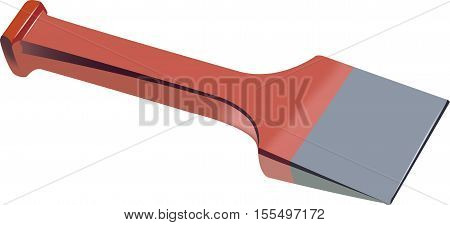 hardware flat blade chisel stonecutters to the building use red