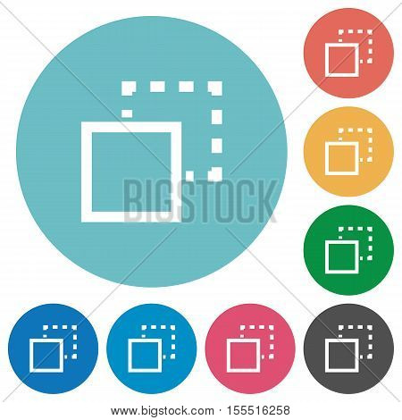 Send to back white flat icons on color rounded square backgrounds
