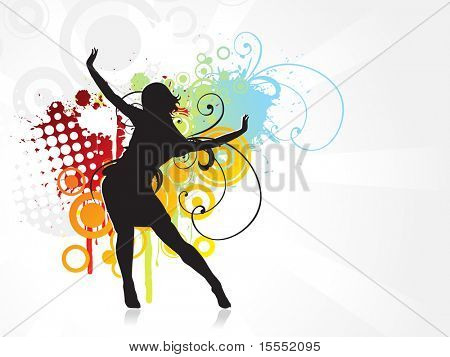 Its a girl dancing vector background