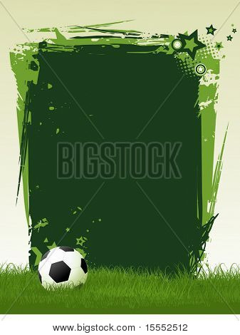 football vector art with space for text